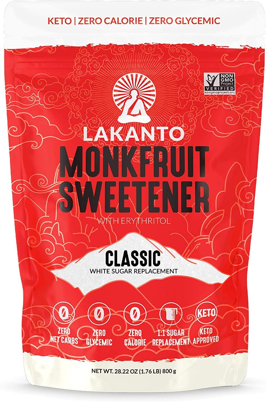 Lakanto Monkfruit 1:1 Sustituto de azucar No-GMO (Classic 800 gramos)