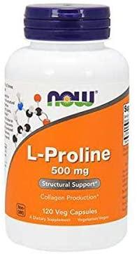 L-Proline 500 mg L-Proline 500 mg, Producción de Colágeno