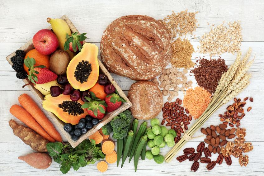 Varios alimentos que contienen silicio