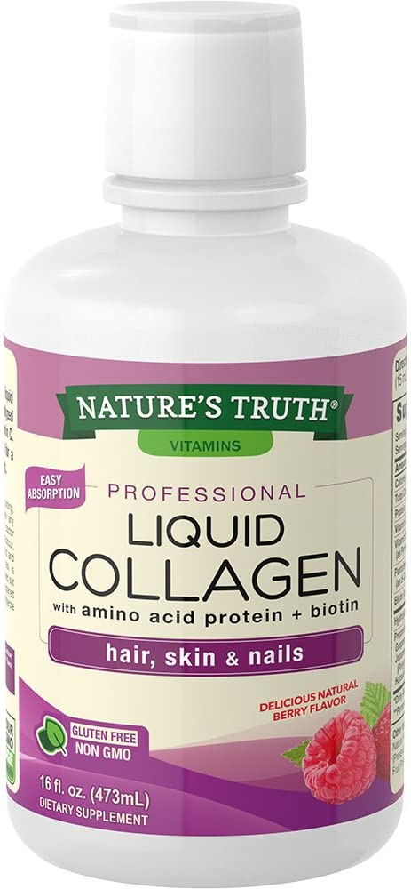 Nature 's Truth Colágeno Líquido, Berry, 16 fluid ounce