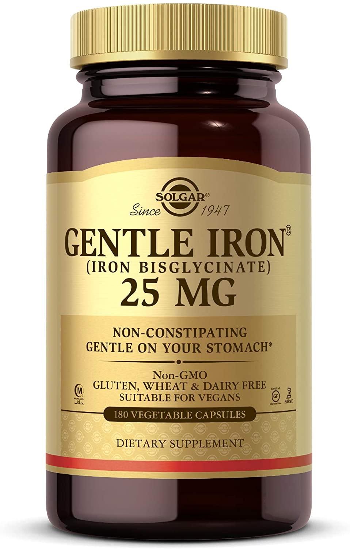 Solgar, suave producción de hierro 0,0009 oz cápsulas 180 fácil vegetal de estómago, rojo Sangre, 811876187005, Paquete de 10, 180