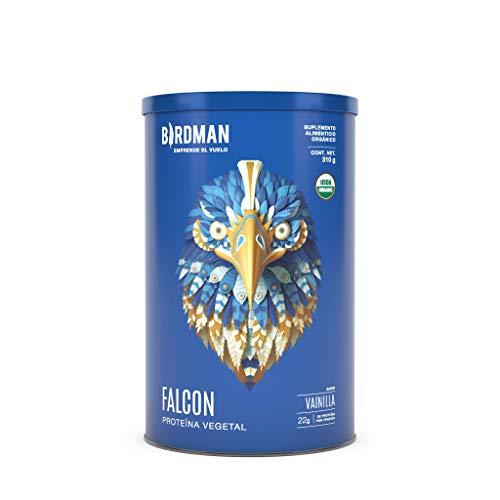 Birdman Falcon Protein Proteina Vegetal USDA Organica En Polvo (Vegana), 22gr Proteina, Sin inflamacion, Sin acne, 17 Porciones Sabor Vainilla 510gr