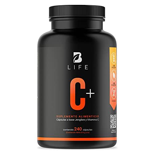 B Life Vitamina C más Jengibre - 240 Cápsulas