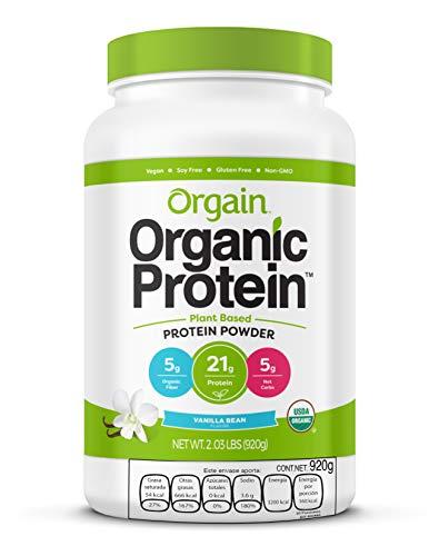 ORGAIN Proteina Vegana y Organica en Polvo - SIN OGM - GLUTEN FREE - LIBRE DE LACTOSA - SIN AZUCAR ANADIDA - LIBRE DE SOYA - Sabor Vainilla - 920grs