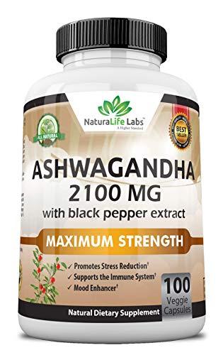 Naturalife Labs Ashwagandha Orgánica 2.100 Mg – 100 Cápsulas Veganas