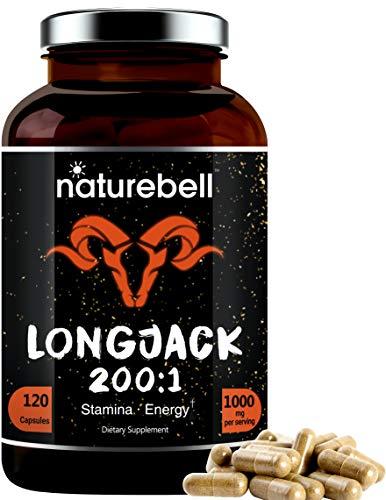 Extracto de Jack largo como Tongkat Ali 200:1, 1000 mg por porción, 120 cápsulas, soporta energía, resistencia y sistema inmunológico para hombres y mujeres, píldoras Super LongJack, sin OMG