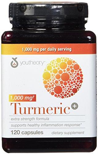Youtheory Cúrcuma Extra Strength Fórmula Cápsulas 1.000 mg por día