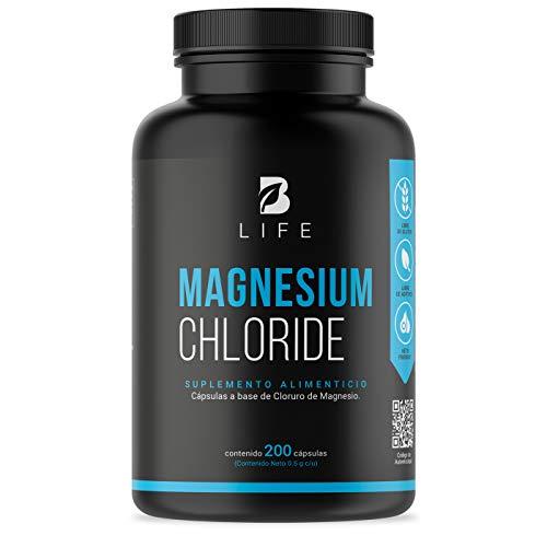 Cloruro de Magnesio 500 mg 200 Cápsulas B Life