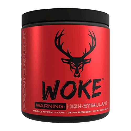 Bucked Up - Woke Blue Raz - HIGH STIM Pre Workout - Best Tasting - Focus Nootropic, Pump, Strength and Growth, 30 Servings
