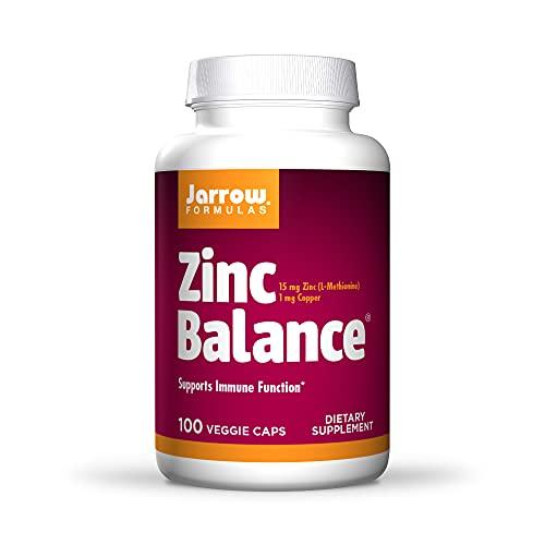 Jarrow Formulas Zinc Balance 15 mg, Supports Immune and Antioxidant Protection, 100 Caps
