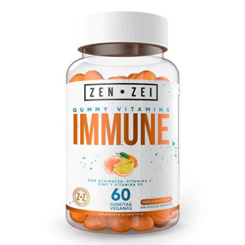 ZEN•ZEI   IMMUNE SUPPORT   — Formuladas Con: Echinacea, Vitamina C, Gluconato de Zinc, Vitamina D3 — 60 Gomitas 100% Veganas y Orgánicas   Calidad Premium