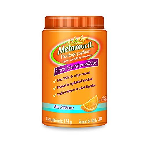Metamucil Suplemento de Fibra Sabor Naranja sin Azucar 174 gr