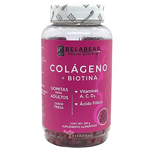 Colágeno + Biotina + Vitaminas 100 Gomitas Solanum